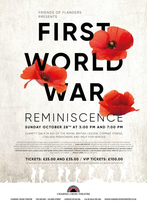 Friends of Flanders Presents First World War Reminiscence Charity Gala